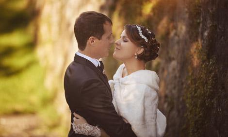 Photographe de mariage haute savoie photos en robe de mariee